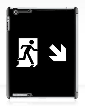 Running Man Exit Sign Apple iPad Tablet Case 128