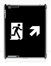 Running Man Exit Sign Apple iPad Tablet Case 129