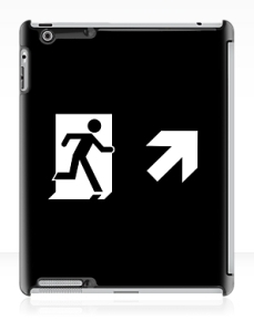 Running Man Exit Sign Apple iPad Tablet Case 129