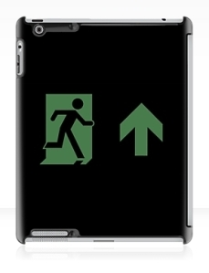 Running Man Exit Sign Apple iPad Tablet Case 13