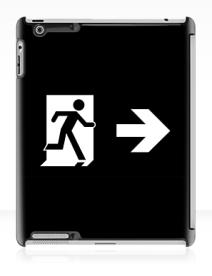 Running Man Exit Sign Apple iPad Tablet Case 130
