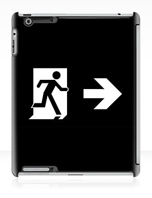 Running Man Exit Sign Apple iPad Tablet Case 130