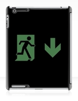 Running Man Exit Sign Apple iPad Tablet Case 132