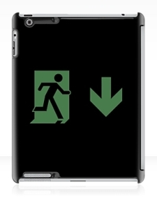 Running Man Exit Sign Apple iPad Tablet Case 132
