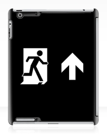 Running Man Exit Sign Apple iPad Tablet Case 133