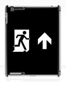 Running Man Exit Sign Apple iPad Tablet Case 133
