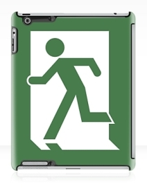 Running Man Exit Sign Apple iPad Tablet Case 134