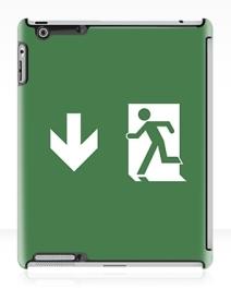 Running Man Exit Sign Apple iPad Tablet Case 135