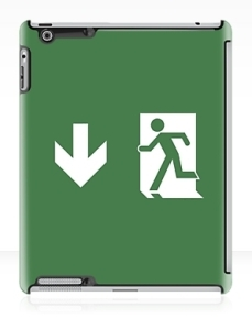 Running Man Exit Sign Apple iPad Tablet Case 135