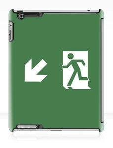 Running Man Exit Sign Apple iPad Tablet Case 136