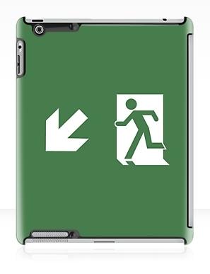 Running Man Exit Sign Apple iPad Tablet Case 136