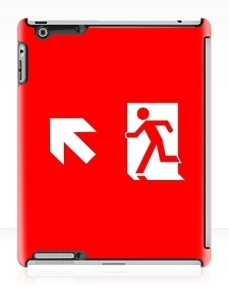 Running Man Exit Sign Apple iPad Tablet Case 137