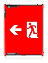 Running Man Exit Sign Apple iPad Tablet Case 138
