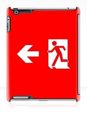 Running Man Exit Sign Apple iPad Tablet Case 138