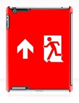 Running Man Exit Sign Apple iPad Tablet Case 139
