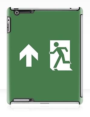 Running Man Exit Sign Apple iPad Tablet Case 14