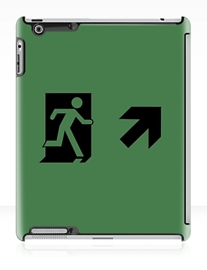 Running Man Exit Sign Apple iPad Tablet Case 140