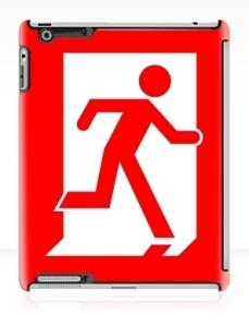 Running Man Exit Sign Apple iPad Tablet Case 141