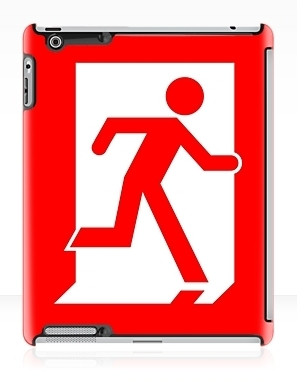 Running Man Exit Sign Apple iPad Tablet Case 141
