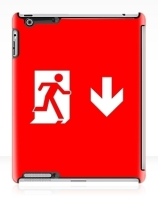 Running Man Exit Sign Apple iPad Tablet Case 142