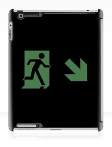 Running Man Exit Sign Apple iPad Tablet Case 143