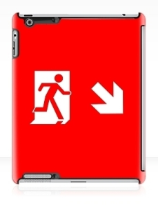 Running Man Exit Sign Apple iPad Tablet Case 145