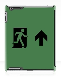 Running Man Exit Sign Apple iPad Tablet Case 146