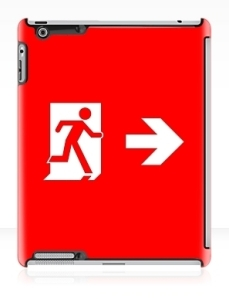 Running Man Exit Sign Apple iPad Tablet Case 147