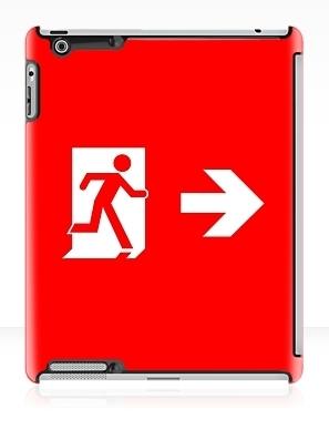 Running Man Exit Sign Apple iPad Tablet Case 147
