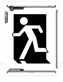Running Man Exit Sign Apple iPad Tablet Case 148
