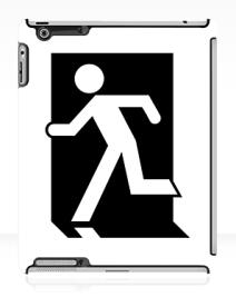 Running Man Exit Sign Apple iPad Tablet Case 148