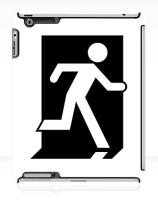 Running Man Exit Sign Apple iPad Tablet Case 149