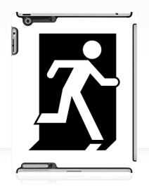 Running Man Exit Sign Apple iPad Tablet Case 149