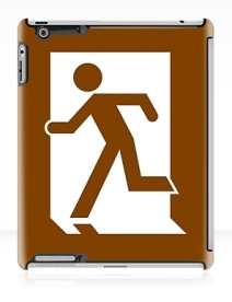 Running Man Exit Sign Apple iPad Tablet Case 15