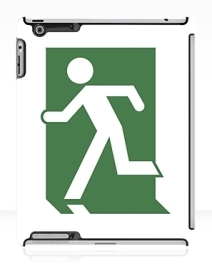 Running Man Exit Sign Apple iPad Tablet Case 150