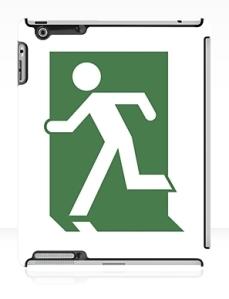 Running Man Exit Sign Apple iPad Tablet Case 150