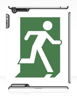 Running Man Exit Sign Apple iPad Tablet Case 151