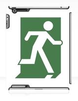 Running Man Exit Sign Apple iPad Tablet Case 151