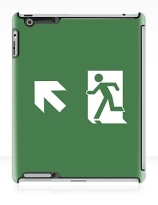 Running Man Exit Sign Apple iPad Tablet Case 152