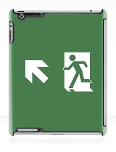 Running Man Exit Sign Apple iPad Tablet Case 152