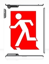 Running Man Exit Sign Apple iPad Tablet Case 153