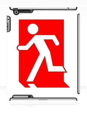 Running Man Exit Sign Apple iPad Tablet Case 153
