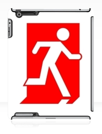 Running Man Exit Sign Apple iPad Tablet Case 155