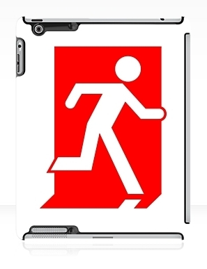 Running Man Exit Sign Apple iPad Tablet Case 155