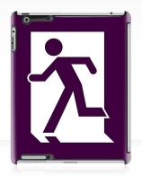 Running Man Exit Sign Apple iPad Tablet Case 156