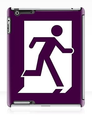 Running Man Exit Sign Apple iPad Tablet Case 157