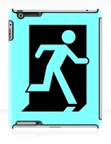 Running Man Exit Sign Apple iPad Tablet Case 158