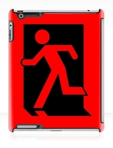Running Man Exit Sign Apple iPad Tablet Case 159
