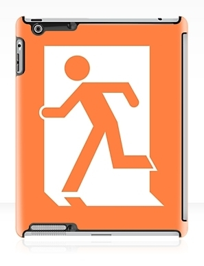 Running Man Exit Sign Apple iPad Tablet Case 16