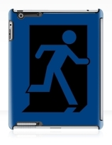 Running Man Exit Sign Apple iPad Tablet Case 160